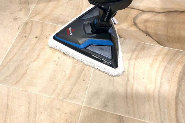 BISSELL PowerFresh Lift-Off Cleaning Bathroom Tile