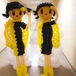 Balloon Air Stewardess Sculpture