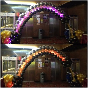 LED Colour Changing Balloon Arch
