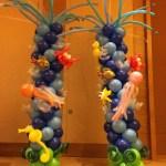 Tall Balloon Pillars