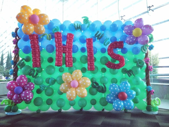 Garden Balloon Backdrop Design