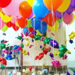 Helium Balloons with hanging stars