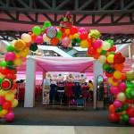Organic Balloon Arch at Plaza Singapura