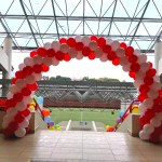 Red and White Balloon Arch