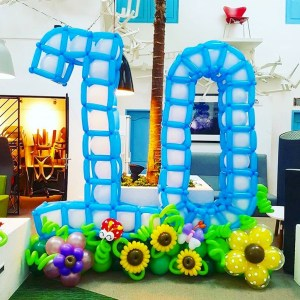 Large Balloon Number Decoration Display