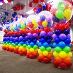 Rainbow Balloon Columns Pillars