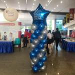 Blue Star Balloon Pillar