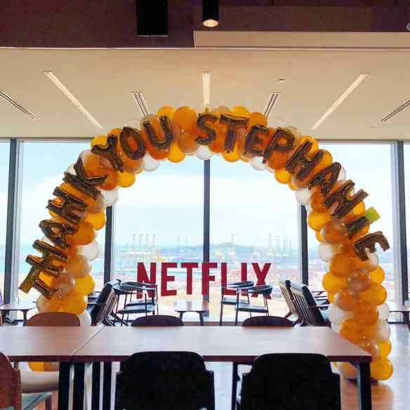 Balloon Arch Decoration for Netflix