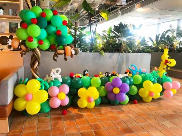 Garden Theme Balloon Decoration