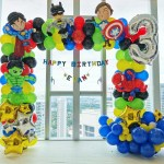 Superhero themed party decoration