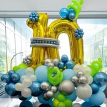 Balloon Number 10 Display Decoration