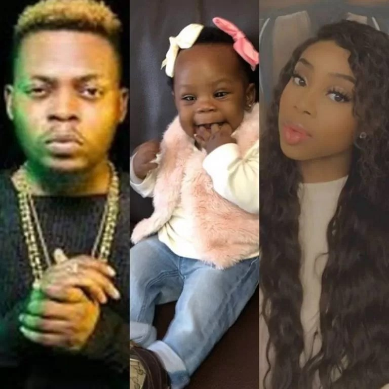 Rapper Olamide's babymama, Maria Okan gives baby her maiden name