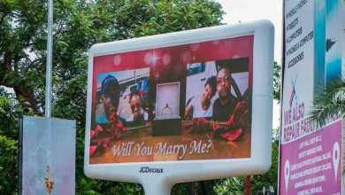 Zambian Man Hires Electronic Bill Board To Propose To Beautiful Lady