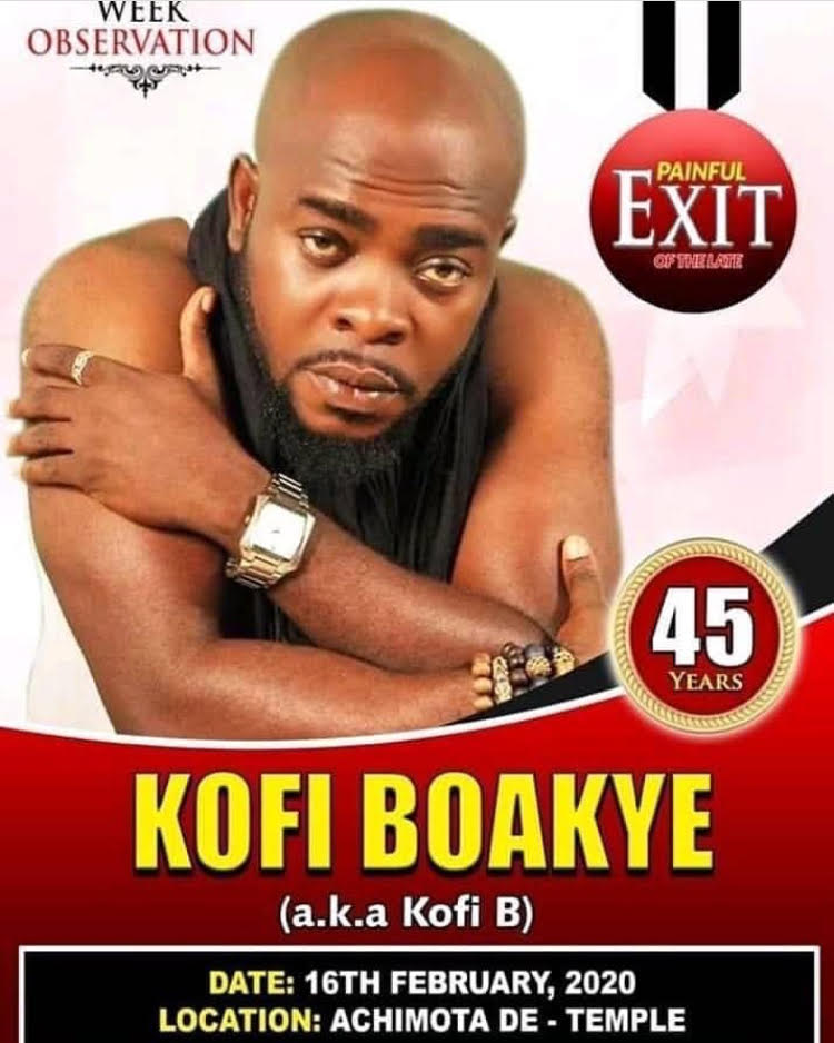 Burial Date and Venue For Kofi B's Funeral