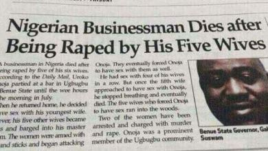 Man Dies after Being Raped by his Five Wives
