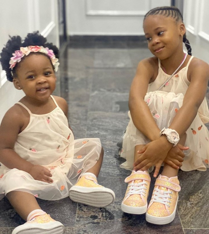 Munachi Gabrielle, 5, and her younger sister Kaima,