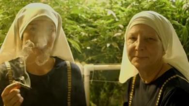 Roman Sister smoking marijuana
