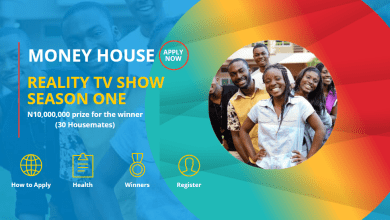 Money House Reality TV Show -Win N10 million in the first season