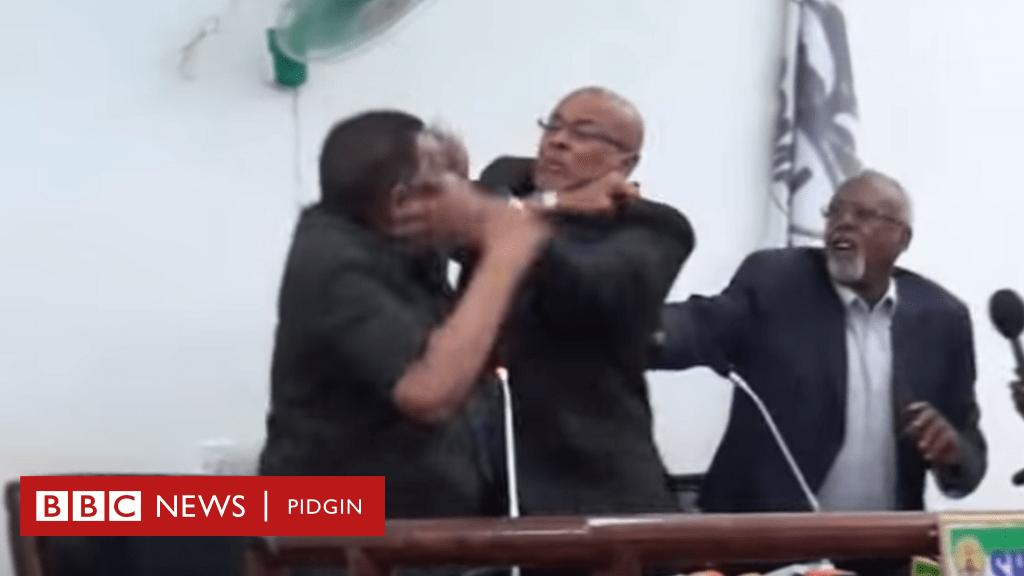 Somalia president, Mohamed Abdullahi Farmaajo and Vice President exchange blows on Live Tv