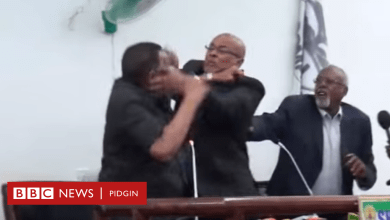 Somalia president, Mohamed Abdullahi Farmaajo and Vice President exchange blows on Live Tv