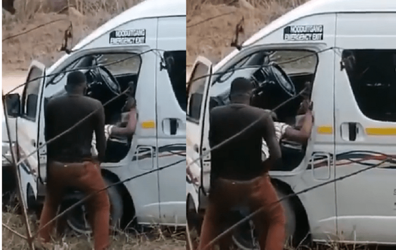 South African taxi driver caught having sex by the roadside