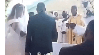 Woman disrupts wedding in Catholic church