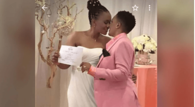Singer Julie Mutesasira officially marries fellow woman