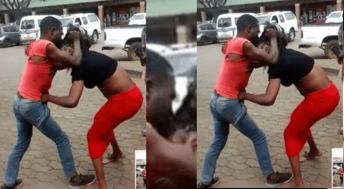 Wife circumcises husband by pulling his organs