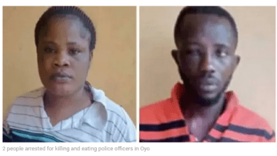 2 people arrested for killing and eating police officers in Oyo