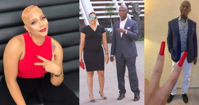 """""""I'd rather be in a polygamous marriage"""" – Zambian lady, Phyliss, writes as she shares pictures with Ned Nwoko."""