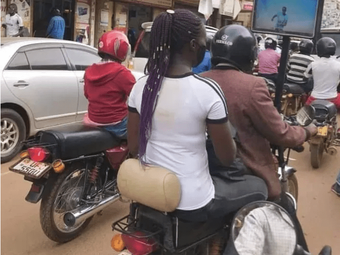 Okada Rider Sparks Controversy As He Places TV On His Bike For Customers