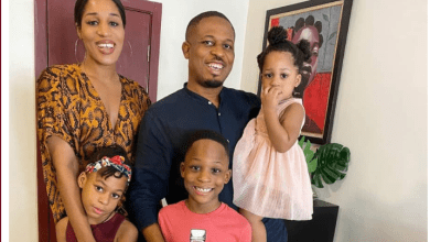 Rapper, NaetoC celebrates his birthday with his wife and children
