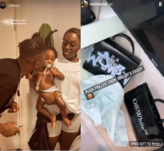 Zlatan's child's mother Davita, shows off the push present he gave her