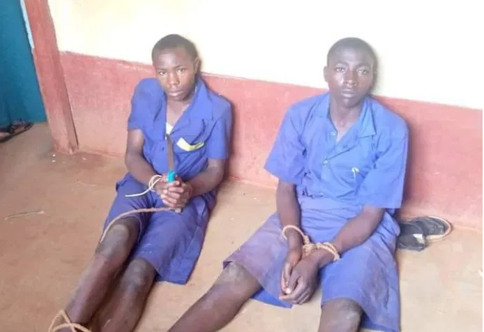class 6 pupils nabbed with a knife ready to stab 3 teachers