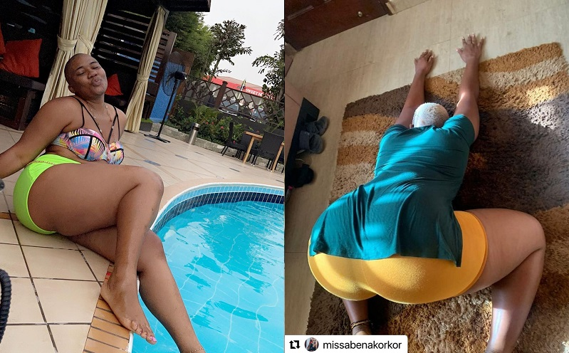 Abena Korkor drops a wild twerking video on Instagram and guys are urinating milk from their penix