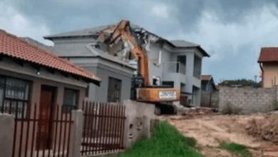 Drama as sugar daddy demolishes cheating girlfriend's house