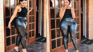 Segos Pumpkin flaunts curves in tight leather leggings -Photos