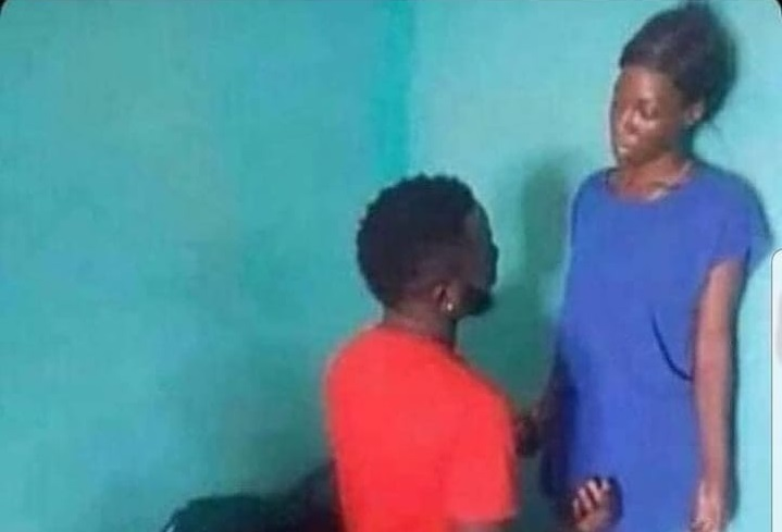 Either Aunty is refusing to be chopped or Oga was caught cheating -Photo