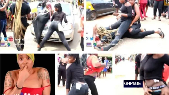 Slay Queens goes mad at Dead slay queen's funeral as they twerk naked & clash with police
