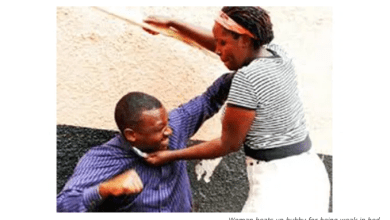 Woman beats up husband for being weak in bed