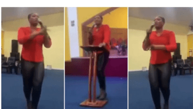 Pastors wife rains curses on church members for not donating money for her birthday -Watch