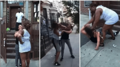Lady beats her lesbian girlfriend for cheating on her with a man
