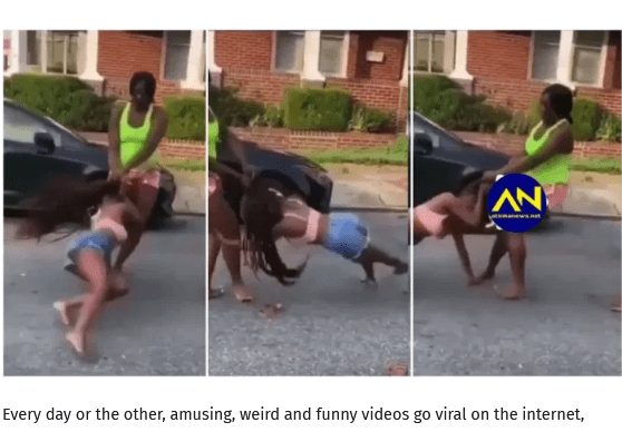 Two Slay Queen tear each other apart as exchange kicks and blows in street Fight