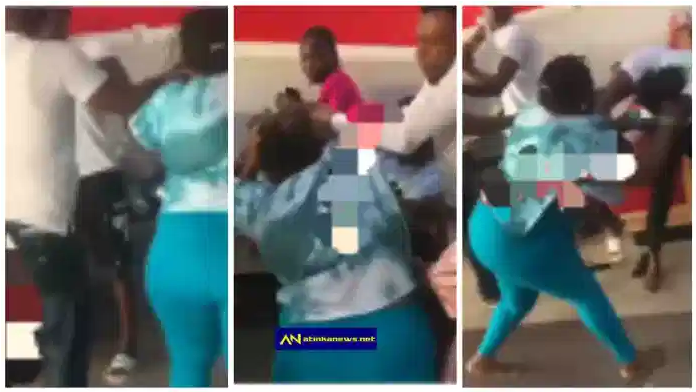 Drama as woman trade blows with her husband's side chick at a restaurant