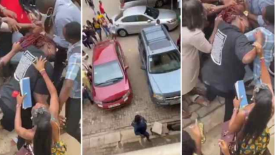 Drama as two female students of Accra Technical university exchange blows over a man (Watch)