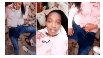 Drunk female college student urinated on herself in public ;video goes viral [Watch]