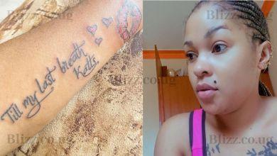 Maama Kizigo Sherry Matovu Tattooes Her Arm with a Promise to Husband Thaddeus
