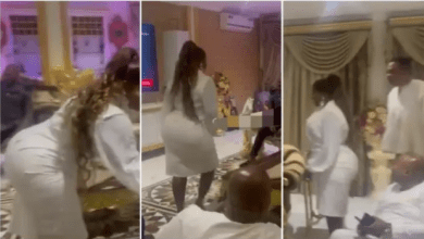 Florence Obinim steals show at Bofowaa's birthday party with her huge backside [video]
