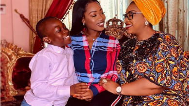 #BBNaija: Jackie B breaks down in tears after being surprised by her mother and son following her eviction from the Big Brother house