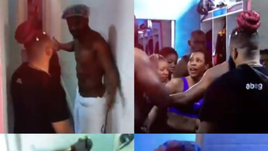 #BBNaija : After Angel's Bushy Pussy Video, Nini and Cross hurl insults on each other over bathroom duties (video)